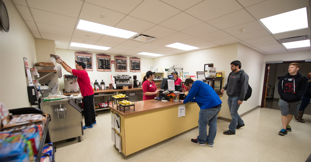 The business bistro campus dining illinois state for Watterson dining
